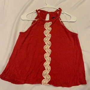 Never worn red  lace tank top